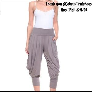 Pants - NEW S - XL Mocha Harem Capri Pants